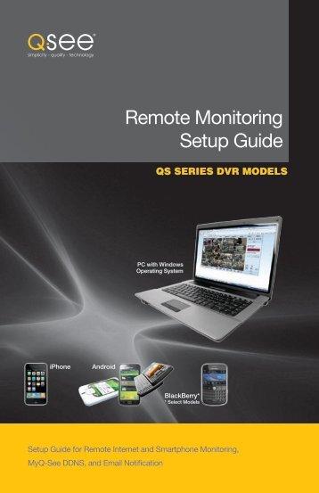 QS remote monitoring setup - Q-See
