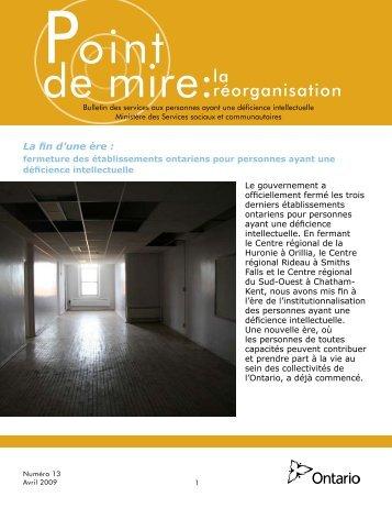Bulletin - avril 2009 - OCAPDD