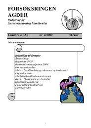 Medlemsblad nr 2 - Norsk Landbruksrådgiving Agder
