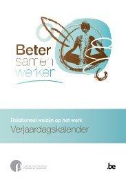 Relationeel welzijn op het werk ... - Fedweb - Belgium