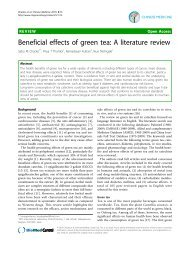 Beneficial effects of green tea: A literature review - Chinese Medicine