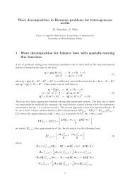 Wave decomposition in Riemann problems for heterogeneous ...