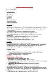 Ausblick - Ziele für 2011 - Johannes-Landenberger-Schule