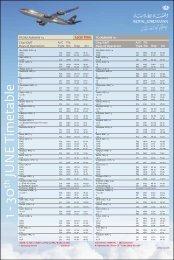 49011 - Royal Jordanian - Branded Timetable JUNE 2013
