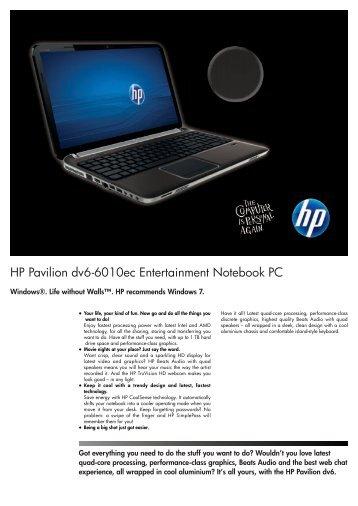 PSG Consumer 1C11 HP Notebook Datasheet - HPmarket.cz
