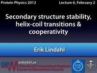 Alpha helix free energy