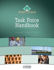 Task Force Handbook - AASHTOWare Software