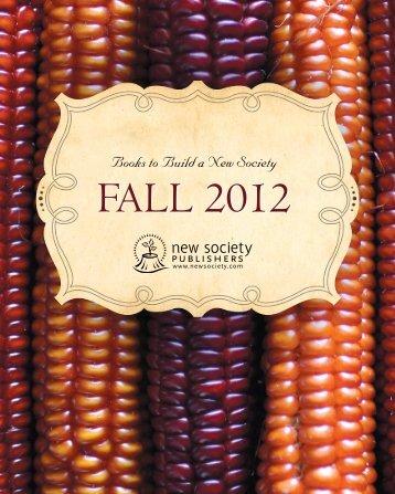 Fall 2012 Fall 2012 - New Society Publishers