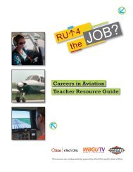 Careers in Aviation Teacher Resource Guide - WBGU