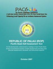 Palau Self Assessment and Jurisdiction Plan - PAC6