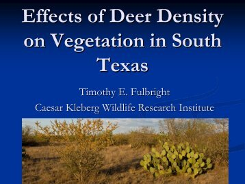 Effects of Deer Density on Vegetation in South Texas