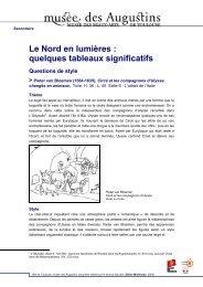 Le Nord en lumières : quelques tableaux significatifs Questions de ...