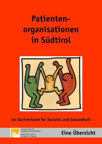 Broschüre Patientenorganisationen - Dachverband für Soziales und ...