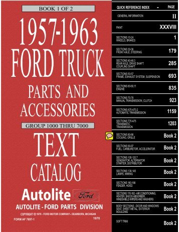 DEMO - 1957-63 Ford Truck Master Parts and Accessory Catalog