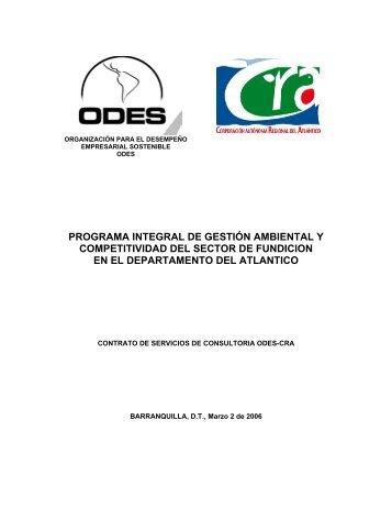 programa integral de gestión ambiental y competitividad del sector ...