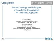 Formal Ontology and Principles of Knowledge Organization ... - ISKO