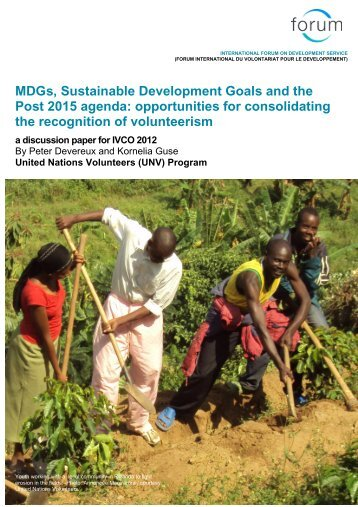 MDGs, Sustainable Development Goals and the Post 2015 agenda ...