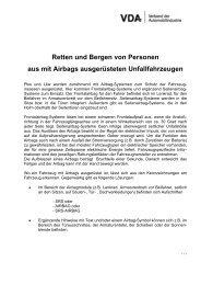 Retten und Bergen von Personen aus mit Airbags ausgerüsteten ...
