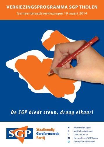 Verkiezingsprogramma SGP_web