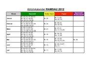 Abfuhrkalender RAMSAU 2012