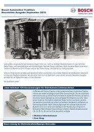 Bosch Automotive Tradition Newsletter Ausgabe September 2010