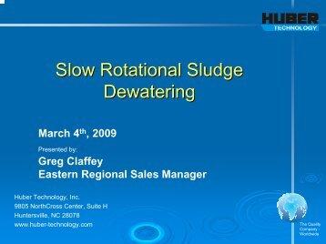 Slow Rotational Sludge Dewatering