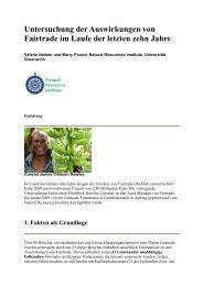 Untersuchung der Auswirkung von Fairtrade
