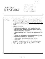 Attendance - Moon Area School District