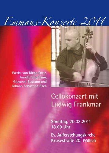 Emmaus-Konzerte 2011 - Ev. Emmaus-Kirchengemeinde