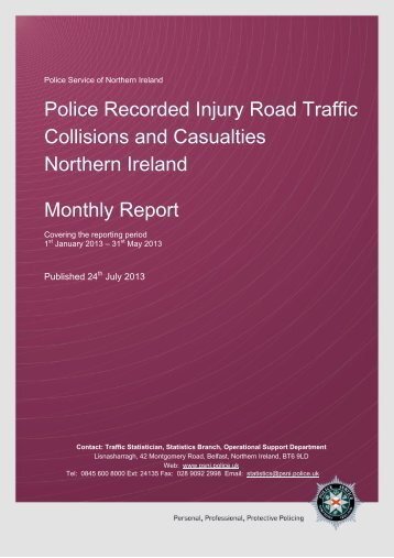 May 2013 - Police Service of Northern Ireland