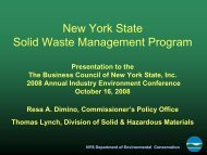 New York State Solid Waste Management Program - The Business ...