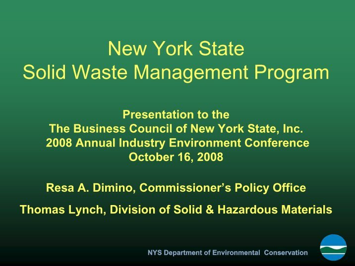 solid waste management law