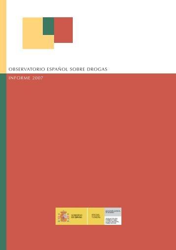 observatorio español sobre drogas informe 2007 - Plan Nacional ...
