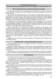 Berufsbild Biografiearbeit - Berufsvereinigung Biografiearbeit auf ...