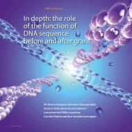 In depth: the role of the function of DNA sequence before and after ...