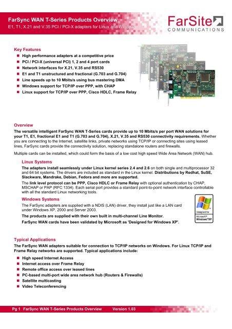 PCI/PCI-X - FarSite