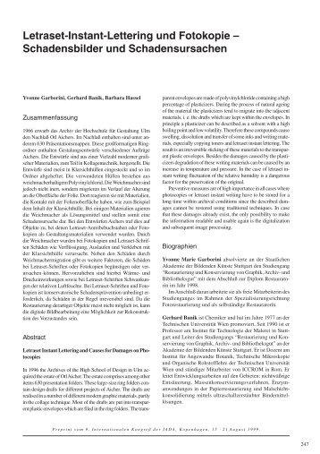 Letraset-Instant-Lettering und Fotokopie - Conservation OnLine