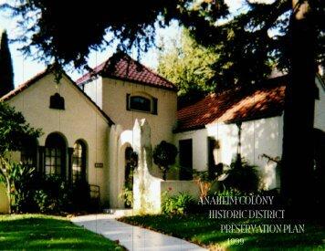 Historic Preservation Plan - City of Anaheim