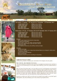 maasai mara 2 night safari - Mission Travel