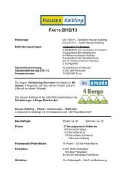 facts 2012/13 - Hauser Kaibling