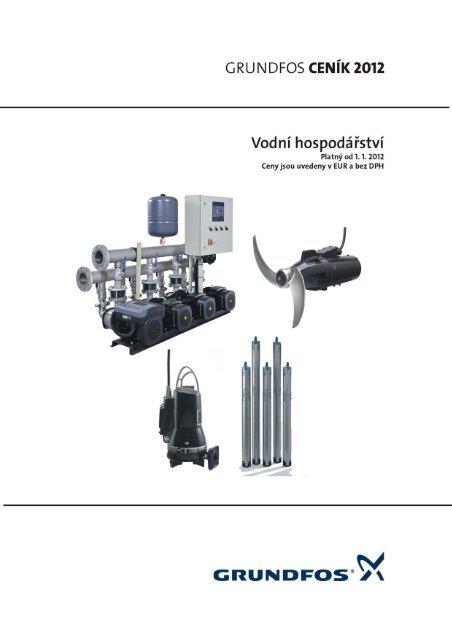 Ceník Grundfos 2012 CZ - Vodní hospodářství