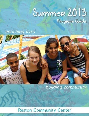 RCC Summer 2013 Program Guide (PDF) - Reston Community Center