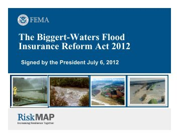 The Biggert-Waters Flood Insurance Reform Act 2012 (June 2013 ...