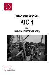 deelnemersbundel KIC 1 voor nationalen 09-10 - Chiro - Chirojeugd ...