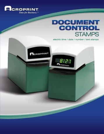 E-Series Document Stamps - Acroprint