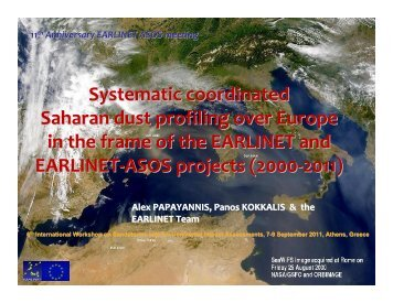 Systematic coordinated Saharan dust profiling over Europe in the ...