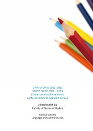 Opinto-opas 2012-2013, Liiketalous, kielet - Lahden ...