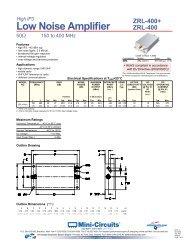 MINI-CIRCUITS / AVANTEK MONOLITHIC AMPLIFIERS ( DC TO