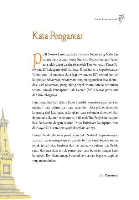 bukuSTATISTIK KEPARIWISATAAN_2013