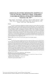 associação entre meningite asséptica e uso da vacina tríplice viral